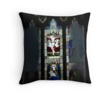 abstract of Jesus Window Throw Pillow