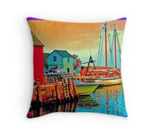 Rockport Motiff  Side View Throw Pillow