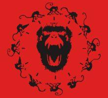 12 Monkeys - Black in Red by createdezign