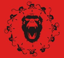 12 Monkeys - Black in Red by createdezign