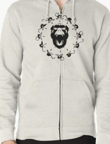 12 Monkeys - Black in Red Zipped Hoodie