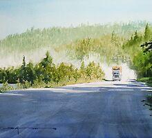 Hauling Logs on Mill Road by Douglas Hunt