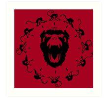 12 Monkeys - Black in Red Art Print