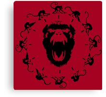 12 Monkeys - Black in Red Canvas Print