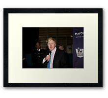 Boris Johnson At Millwall Football Club Framed Print