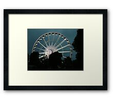 Greenwich Wheel Framed Print