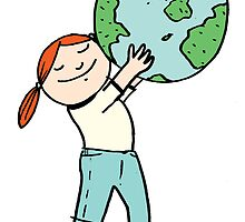 Give the earth a hug by David Barneda