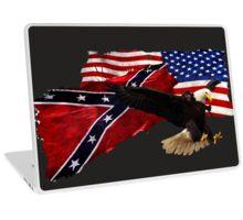 Confederate Flag, US Flag, Bald Eagle,Patriotic Laptop Skin
