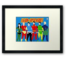Legion of Super-Heroes Minimal 3 Framed Print