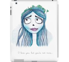 Corpse bride iPad Case/Skin