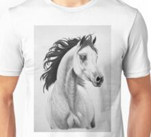 """You Lift My Spirit"" - Charcoal Portrait Unisex T-Shirt"