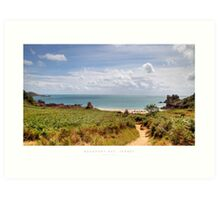Beauport Bay, Jersey Art Print