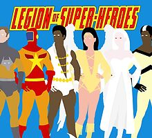 Legion of Super-Heroes Minimal 5 by TheWrightMan