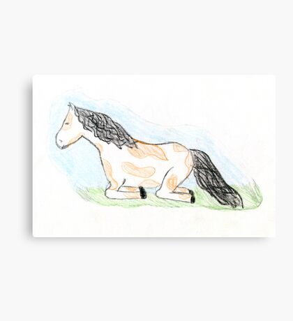 Sleepy Horse Canvas Print