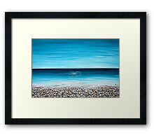 a stone's throw : not just ANOTHER drop in the ocean Framed Print