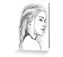 DAENERYS GAME OF THRONES PEN & INK DRAWING Greeting Card