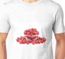 Redcurrant over white background Unisex T-Shirt