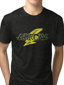Arrow and Flash cross-over Tv Series  Tri-blend T-Shirt