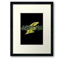 Arrow and Flash cross-over Tv Series  Framed Print