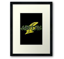 Arrow and Flash cross-over Tv Series  Framed Print