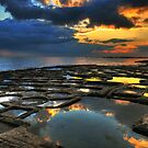 Sunrise On The Saltpans by Xandru