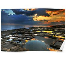 Sunrise On The Saltpans Poster