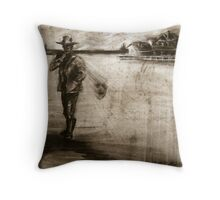 lone gunman Throw Pillow