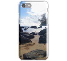 Jumping the Rocks in Hawaii iPhone Case/Skin