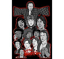 the warriors 35th anniversary character collage Photographic Print