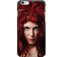 Glamour close-up of sexy redhead young woman iPhone Case/Skin