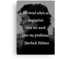 Sherlock Benedict Cumberbatch Quote Canvas Print