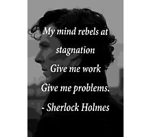 Sherlock Benedict Cumberbatch Quote Photographic Print