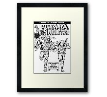 Dynamic Duo in Black and White Framed Print