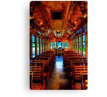 Trolley Car 432B Interior in HDR Canvas Print