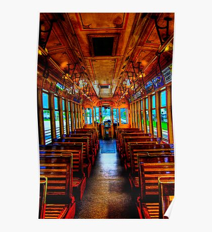 Trolley Car 432B Interior in HDR Poster