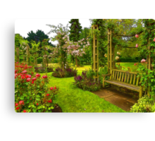 Impressions of London - Queen Mary's Rose Garden Canvas Print