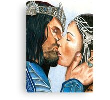ARWEN & ARAGORN KISS LORD OF THE RINGS Canvas Print