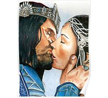 ARWEN & ARAGORN KISS LORD OF THE RINGS Poster
