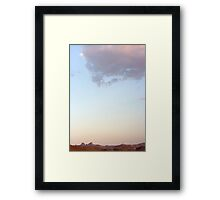 Castle Peaks sunset Framed Print
