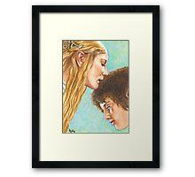 GALADRIEL KISSES FRODO Framed Print