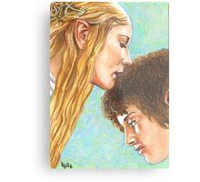 GALADRIEL KISSES FRODO Metal Print