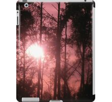 Pink Sunset in the Trees II iPad Case/Skin