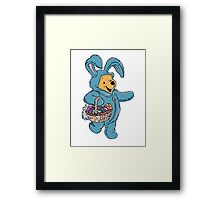 Winnie the Pooh as the Easter Bunny Framed Print