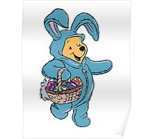 Winnie the Pooh as the Easter Bunny Poster
