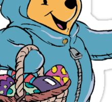 Winnie the Pooh as the Easter Bunny Sticker