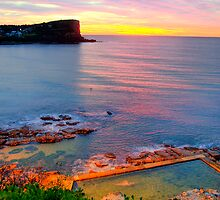 Marvel - Avalon  Beach - Sydney Beaches - The HDR Series by Philip Johnson