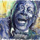 Jazz B B King 04 Blue by Yuriy Shevchuk
