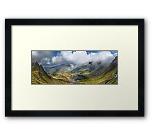 Balea Lac from Fagaras mountains Framed Print