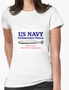 US Navy Submarine Force Womens Fitted T-Shirt