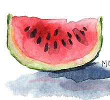 Watermelon Watercolor by Michelle Meyer